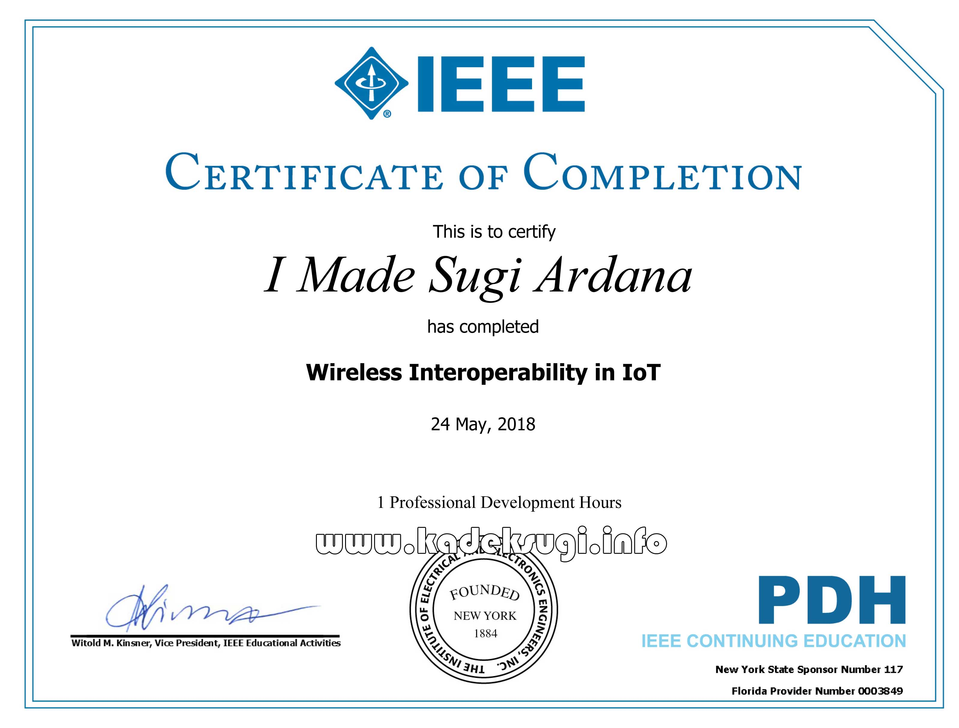 Certificate Wireless Interoperability in IoT-wm