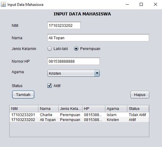 hasil-gui-ScreenInputDataMhs
